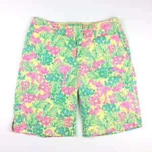 Lilly Pulitzer Flamingo Chipper Bermuda Shorts 4